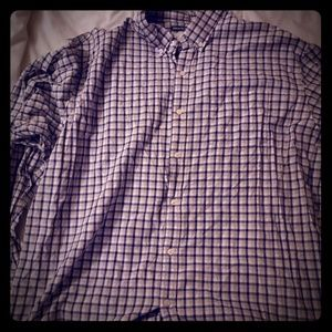 Old Navy Blue Plaid Button Down